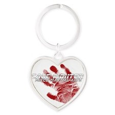 Cage Fighter Heart Keychain
