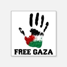 "Free Gaza Square Sticker 3"" x 3"""