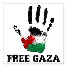 "Free Gaza Square Car Magnet 3"" x 3"""