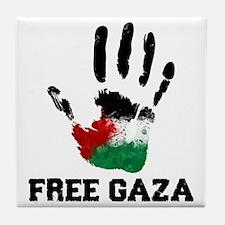 Free Gaza Tile Coaster