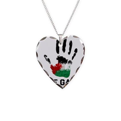 Free Gaza Necklace Heart Charm