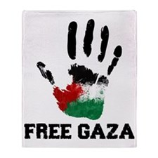 Free Gaza Throw Blanket