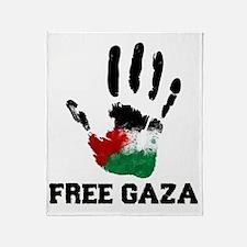 Free Gaza Throw Blanket