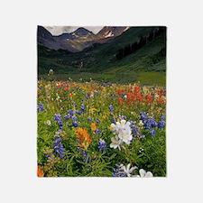 Alpine flowers in Rustler's Gulch Throw Blanket