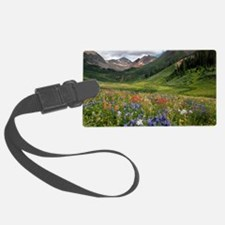Alpine flowers in Rustler's Gulc Luggage Tag