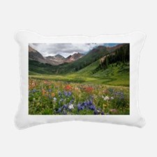 Alpine flowers in Rustle Rectangular Canvas Pillow
