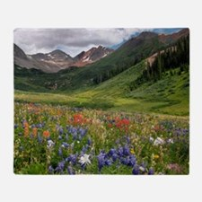 Alpine flowers in Rustler's Gulch Throw Blanket