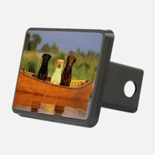 Dogs in a canoe Hitch Cover