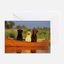 Dogs in a canoe Greeting Card