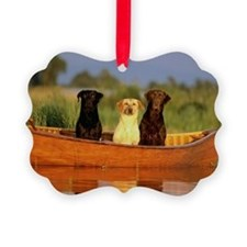 Dogs in a canoe Ornament