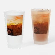 Alien planet, artwork Drinking Glass