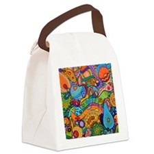 Abstract Whimsy Canvas Lunch Bag