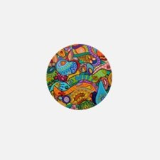 Abstract Whimsy Mini Button