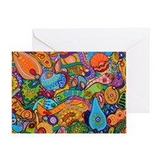 Abstract Whimsy Greeting Card