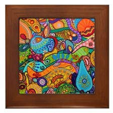 Abstract Whimsy Framed Tile