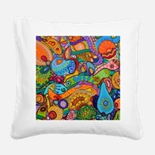 Abstract Whimsy Square Canvas Pillow