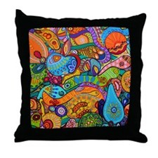 Abstract Whimsy Throw Pillow