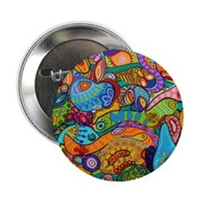 """Abstract Whimsy 2.25"""" Button"""