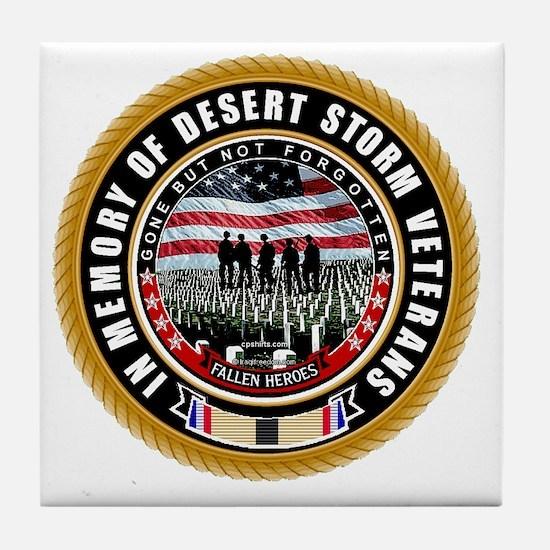 Desert Storm Veterans Tile Coaster