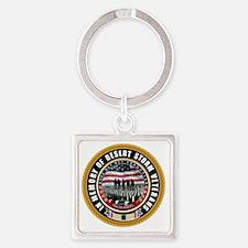 Desert Storm Veterans Square Keychain