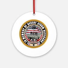 Desert Storm Veterans Round Ornament
