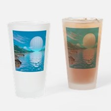 Alien eden, conceptual artwork Drinking Glass