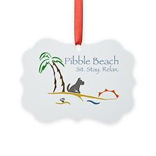Pibble Beach Ornament