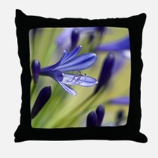 Agapanthus 'Regal Beauty' Throw Pillow