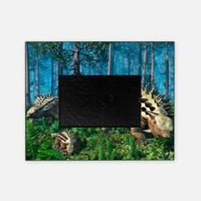 Ankylosaur family, artwork Picture Frame