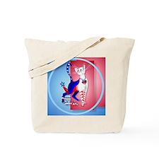 Circle 4th Of July American Kitty Tote Bag