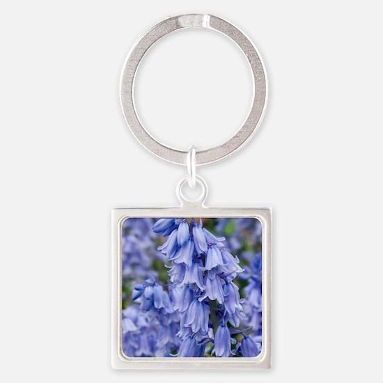 Bluebells (Hyacinthoides hispanica Square Keychain