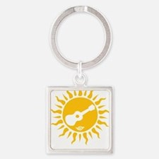 uke are my sunshine Square Keychain