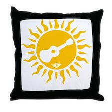 uke are my sunshine Throw Pillow