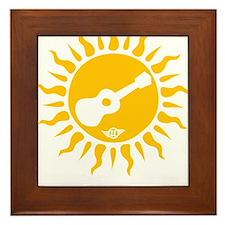 uke are my sunshine Framed Tile