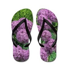 Allium flower Flip Flops
