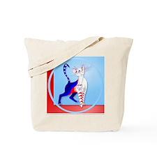 Circle An American Cat Tote Bag
