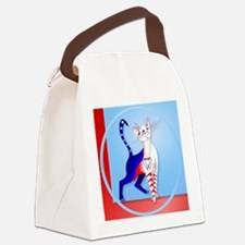 Circle An American Cat Canvas Lunch Bag
