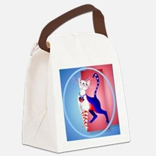 Circle An All American Cat Canvas Lunch Bag