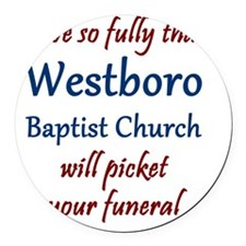 Westboro #12 Round Car Magnet