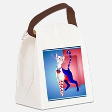 Calender An All American Cat Canvas Lunch Bag