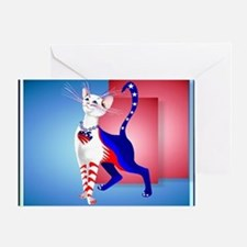 Calender An All American Cat Greeting Card