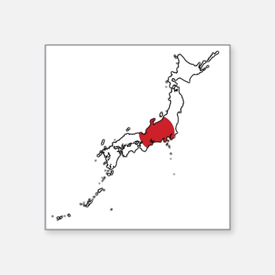 Japan Flag Bumper Stickers Car Stickers Decals More - Japan map flag