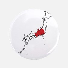 "Flag Map of Japan 3.5"" Button"