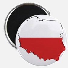 Flag Map of Poland Magnet