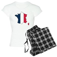 Flag Map of France Pajamas