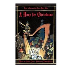 Cover - Harp for Christma Postcards (Package of 8)