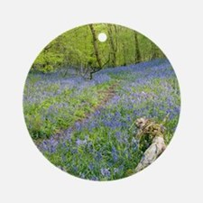 Bluebells (Hyacinthoides sp.) Round Ornament