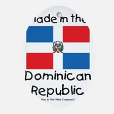 Made in the Dominican Republic Oval Ornament