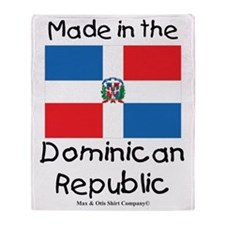 Made in the Dominican Republic Throw Blanket