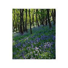 Bluebell wood Throw Blanket
